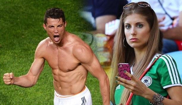 Cristiano Ronaldo i piękna Cathy Fischer. /INTERIA.PL