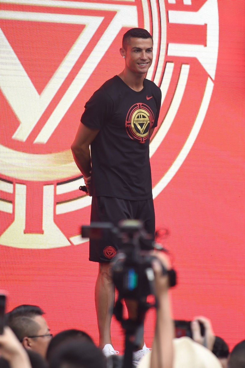 Cristiano Ronaldo jeszcze nie dołączył do drużyny. Wypełnia marketingowe obowiązki w Chinach /AFP