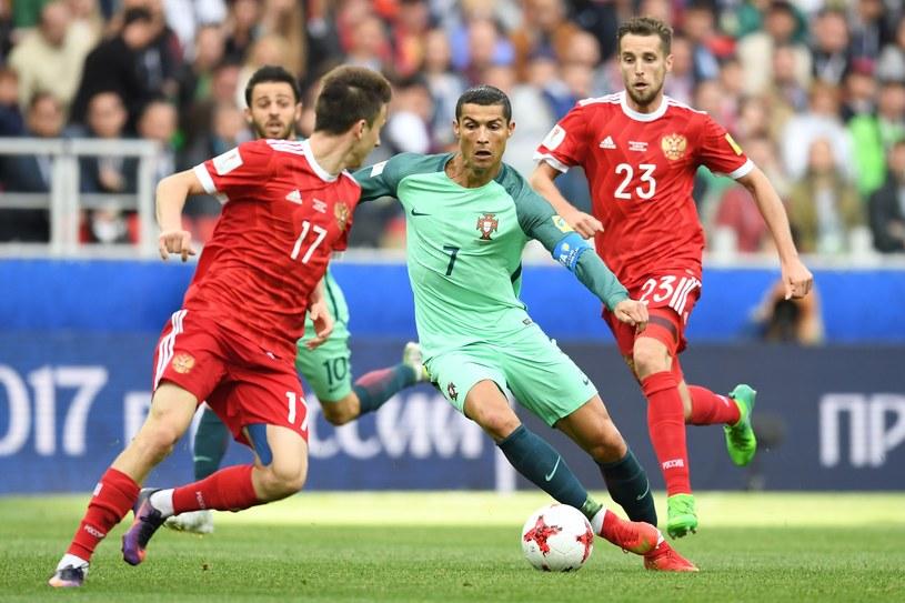 Cristiano Ronaldo mija piłkarzy reprezentacji Rosji /AFP