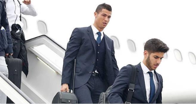 Cristiano Ronaldo na Okęciu. Fot. RealMadrid.com /
