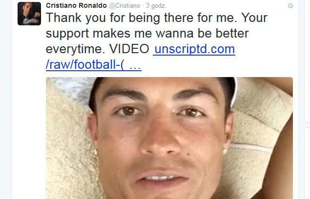 Cristiano Ronaldo na Twitterze /AFP
