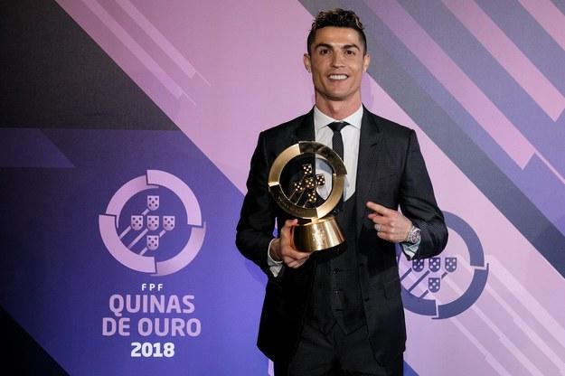 Cristiano Ronaldo najlepszym portugalskim piłkarzem w 2017 roku /PAP/EPA/FPF /PAP/EPA