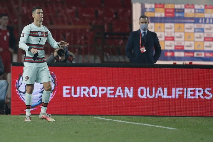 Cristiano Ronaldo nie mógł zrozumieć decyzji sędziego /PEDJA MILOSAVLJEVIC /AFP