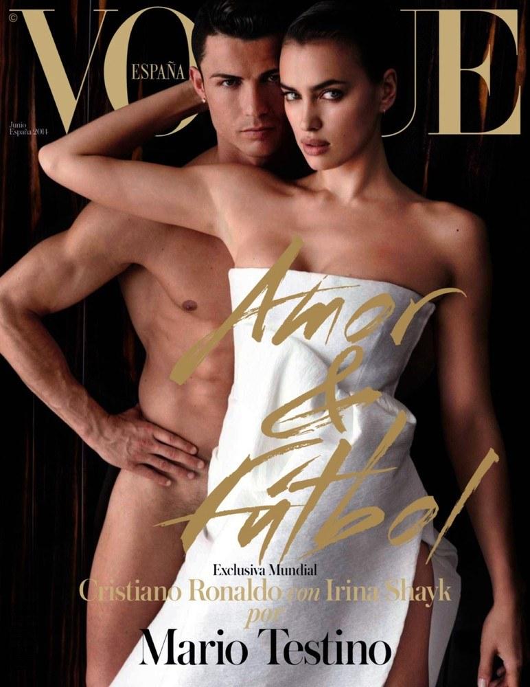Cristiano Ronaldo oraz Irina Shayk na okładce Vogue /Agencja SE/East News