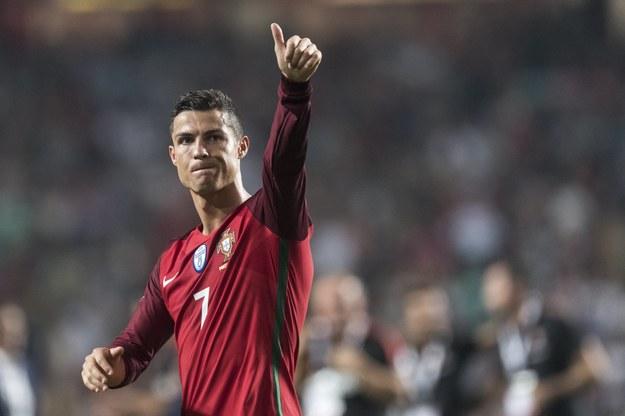 Cristiano Ronaldo po zwycięstwie Portugalii nad Szwajcarią w ostatnim meczu tych drużyn w eliminacjach MŚ 2018 /JEAN-CHRISTOPHE BOTT /PAP/EPA