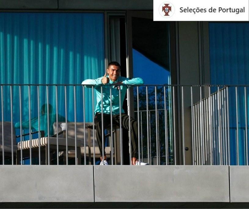 Cristiano Ronaldo podczas kwarantanny./Źródło: Facebook - Selecoes de Portugal /