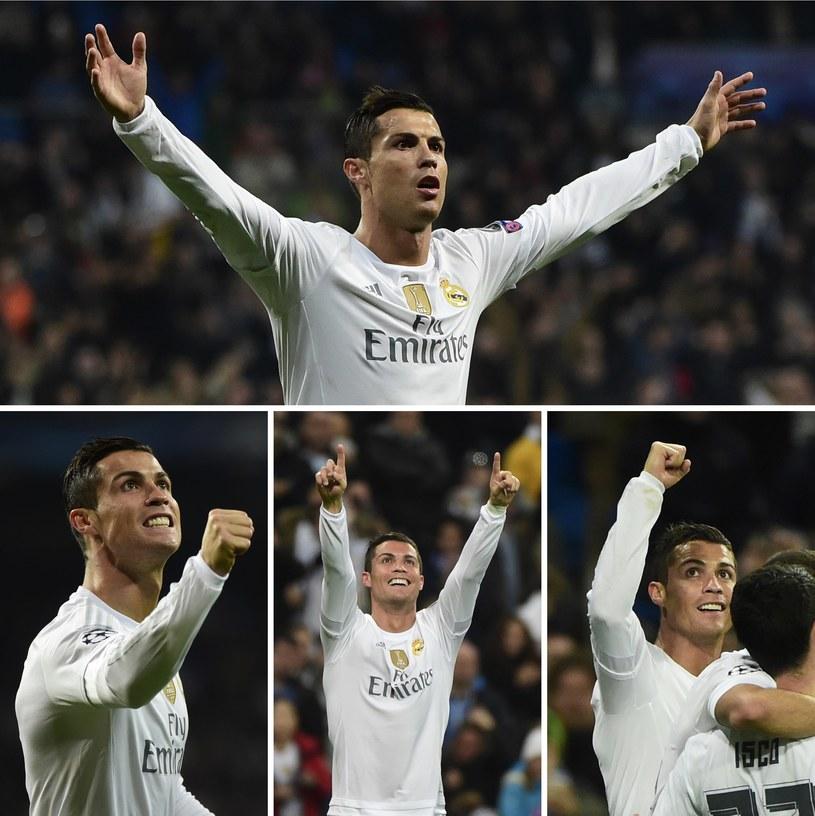 Cristiano Ronaldo podczas meczu Realu Madryt z Malmoe FF /AFP