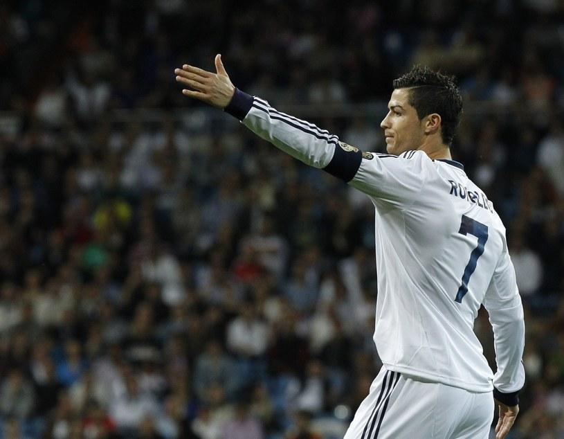Cristiano Ronaldo podczas meczu z Malagą /PAP/EPA