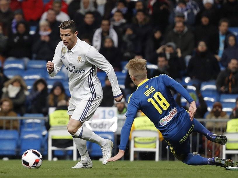 Cristiano Ronaldo podczas pucharowego starcia z Celtą Vigo /PAP/EPA