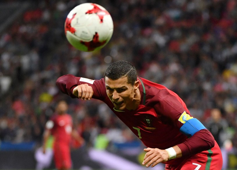 Cristiano Ronaldo podczas Pucharu Konfederacji /AFP