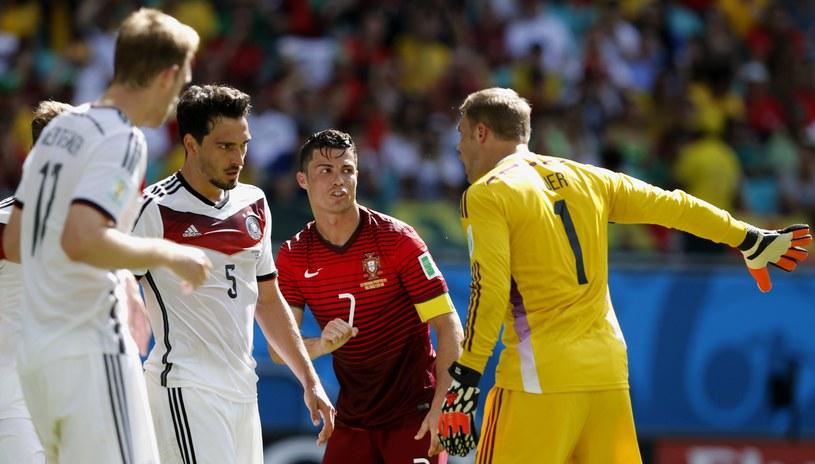 Cristiano Ronaldo słabo spisał się w meczu z Niemcami /PAP/EPA