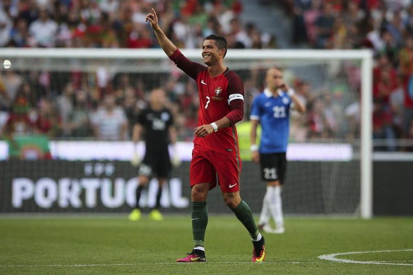 Cristiano Ronaldo strzelił dwa gole Estończykom /PAP/EPA