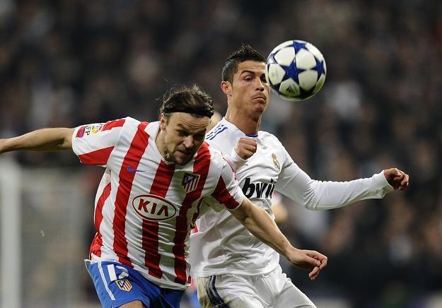 Cristiano Ronaldo strzelił gola w meczu z Atletico Madryt /AFP