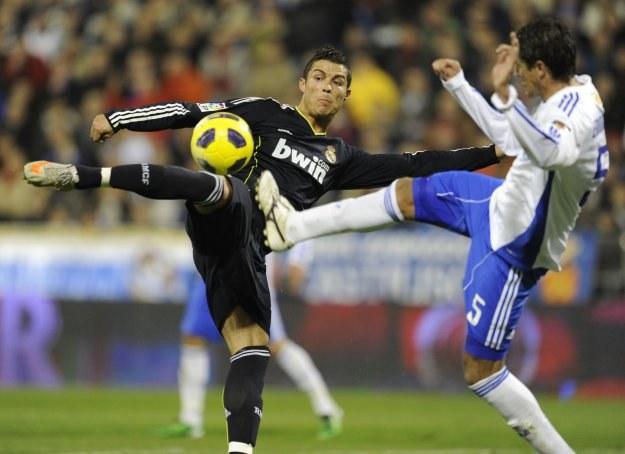 Cristiano Ronaldo strzelił gola w meczu z Realem Saragossa /AFP