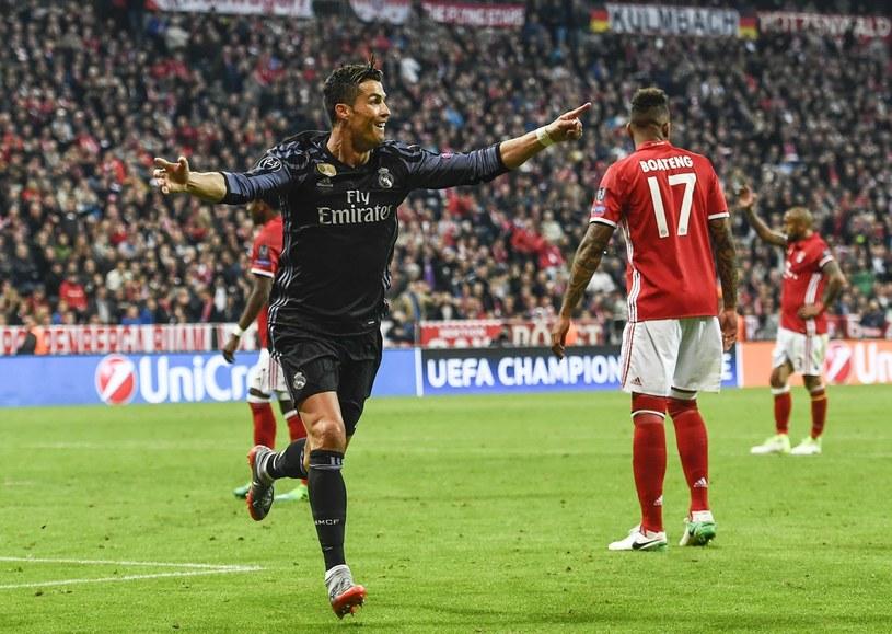 """Cristiano Ronaldo strzelił oba gole dla """"Królewskich"""" /FILIP SINGER /PAP/EPA"""