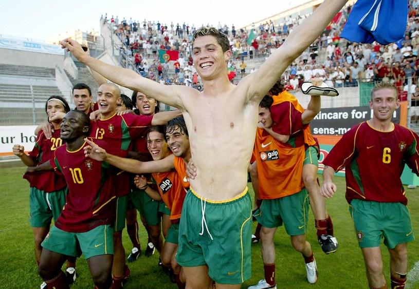 Cristiano Ronaldo w barwach reprezentacji Portugalii do lat 21 w 2003 roku /GERARD JULIEN /AFP
