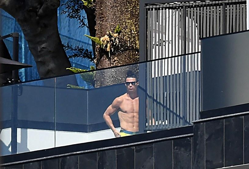 Cristiano Ronaldo w czasie kwarantanny na Maderze /AFP /AFP