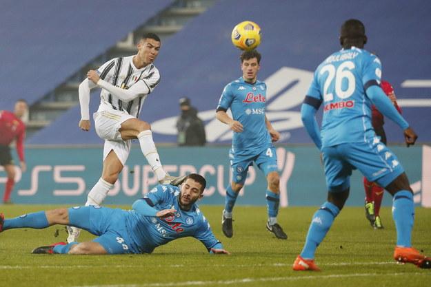 Cristiano Ronaldo w czasie meczu z Napoli /ELISABETTA BARACCHI /PAP/EPA