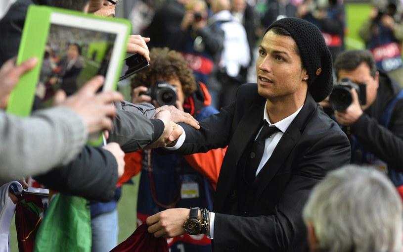 Cristiano Ronaldo w Dortmundzie był gwiazdą poza boiskiem /AFP