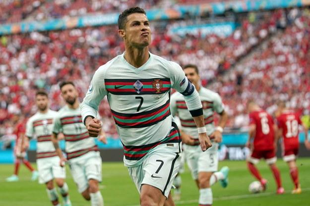 Cristiano Ronaldo w meczu Węgry – Portugalia na Euro 2020 /HUGO DELGADO /PAP/EPA