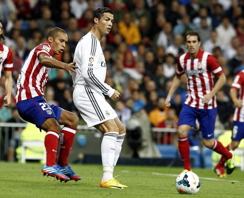 Cristiano Ronaldo w meczu z Atletico Madryt /PAP/EPA