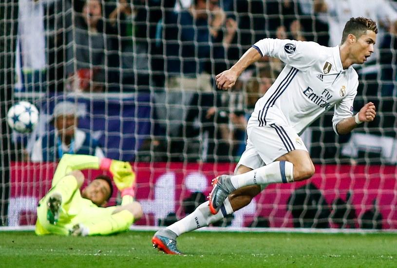 Cristiano Ronaldo w meczu z Atletico /AFP