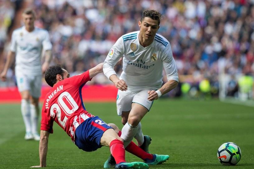 Cristiano Ronaldo w meczu z Atletico /PAP/EPA