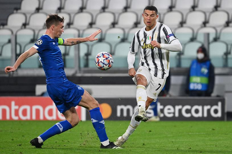 Cristiano Ronaldo w meczu z Dynamem Kijów /VINCENZO PINTO /AFP