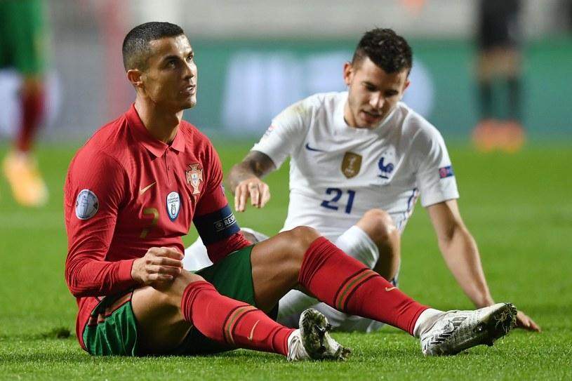 Cristiano Ronaldo w meczu z Francją /AFP