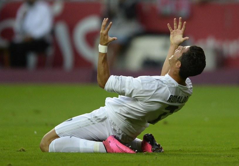 Cristiano Ronaldo w meczu ze Sportingiem Gijon /AFP