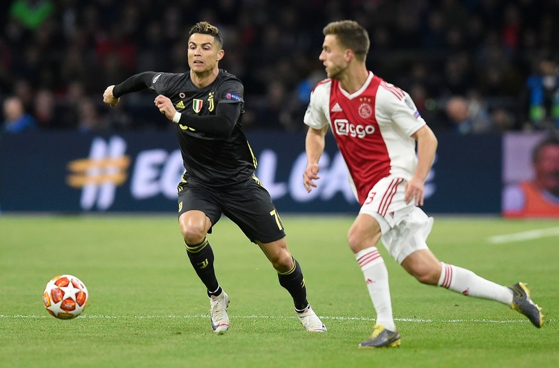 Cristiano Ronaldo w pierwszym meczu 1/4 finału z Ajaksem /AFP