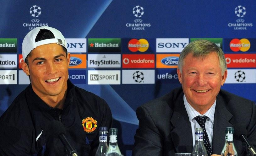 Cristiano Ronaldo (z lewej) i Alex Ferguson /AFP