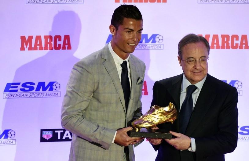 Cristiano Ronaldo (z lewej) i Florentino Perez /AFP