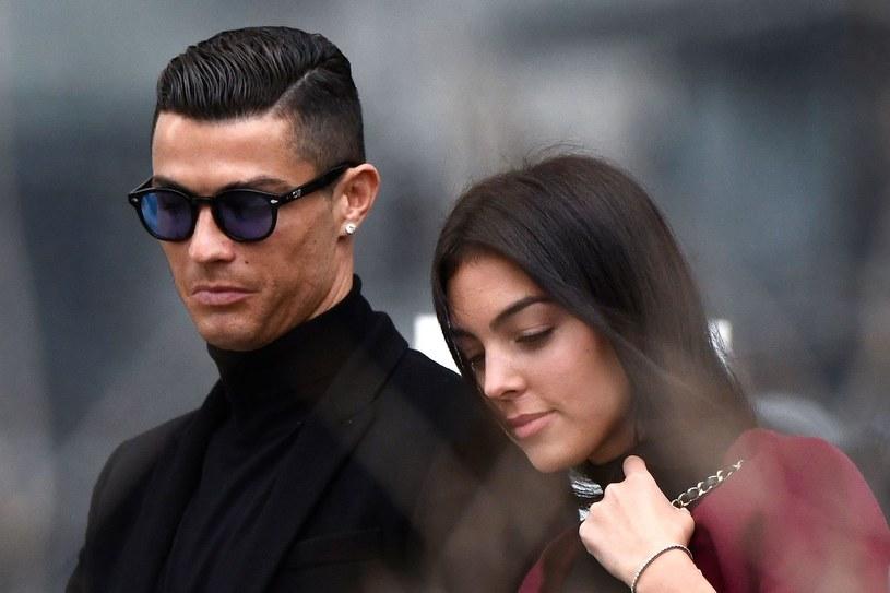 Cristiano Ronaldo z narzeczoną Georginą Rodriguez /AFP