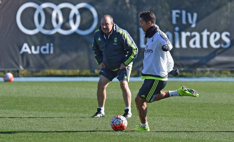Cristiano Ronaldo (z prawej) i Rafa Benitez /AFP