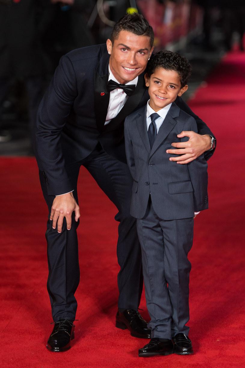 Cristiano Ronaldo z synem /Ian Gavan /Getty Images