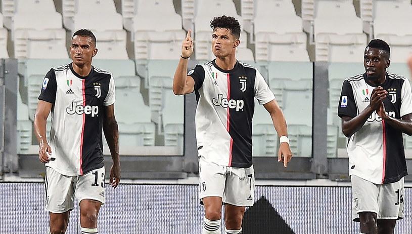 Cristiano Ronaldo zdobył dwie bramki w meczu z Atalantą Bergamo /ALESSANDRO DI MARCO  /PAP/EPA