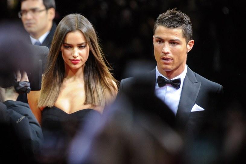 Cristiano Ronaldo ze swoją dziewczyną rosyjską modelką Iriną Shayk /AFP