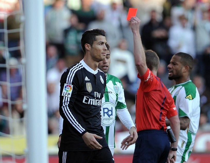 Cristiano Ronaldo został ukarany czerwoną kartką w meczu z Cordobą /AFP