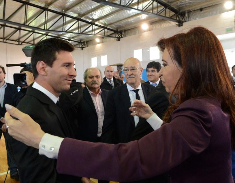 Cristina Fernandez de Kirchner i Lionel Messi /AFP