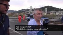 Cudem przeżył katastrofę w Genui. Most niemal zawalił mu się na głowę