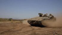Ćwiczenia izraelskich wojsk na Wzgórze Golan