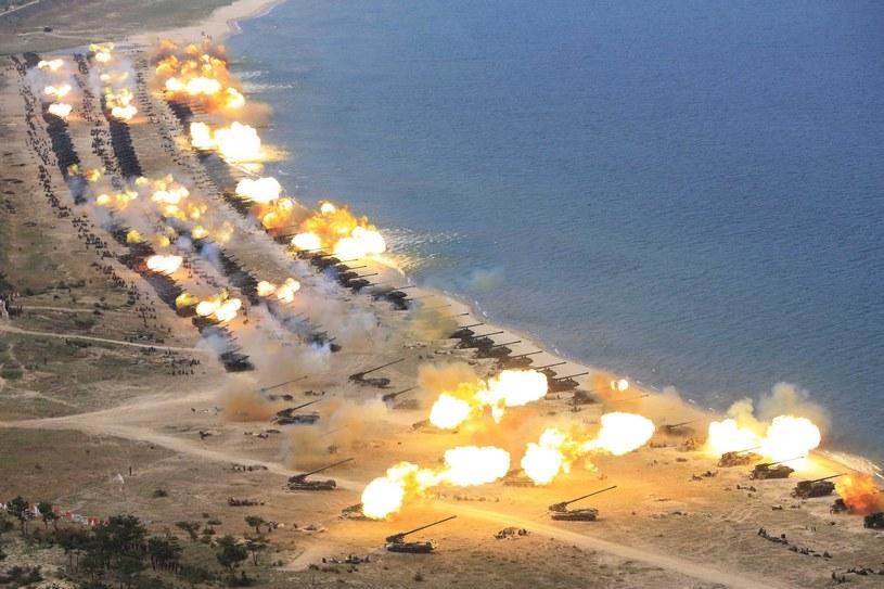 Ćwiczenia koreańskiej armii /PAP/EPA