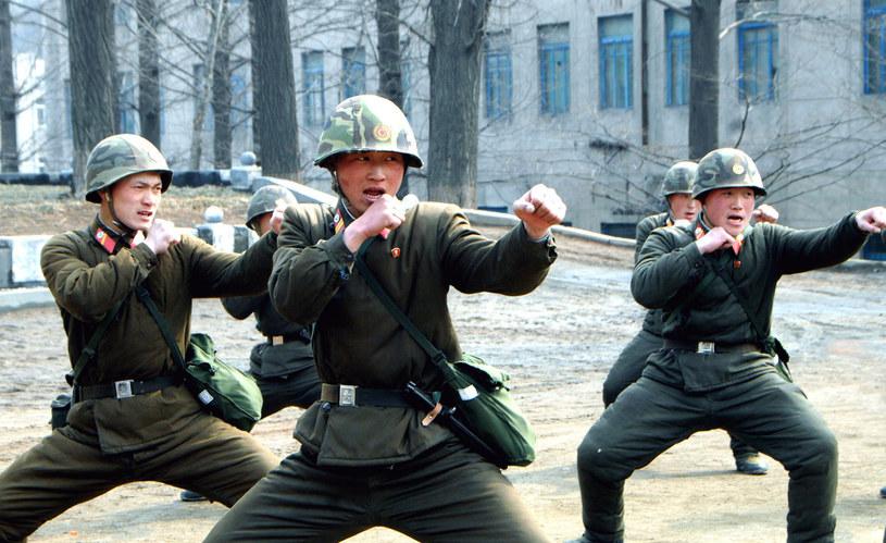 Ćwiczenia północnokoreańskich żołnierzy /AFP