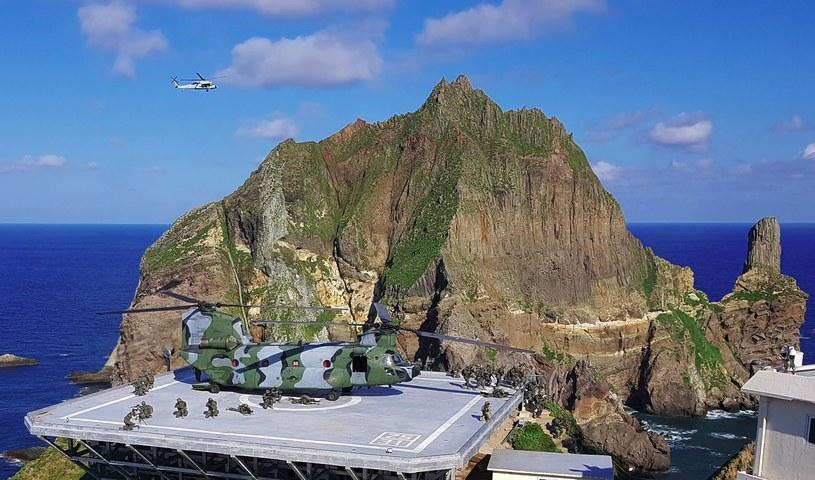 Ćwiczenia południowokoreańskich żołnierzy na Morzu Japońskim /AFP