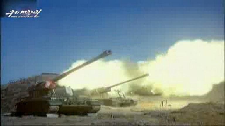 Ćwiczenia prowadzone przez wojska pancerne Korei Północnej /AFP