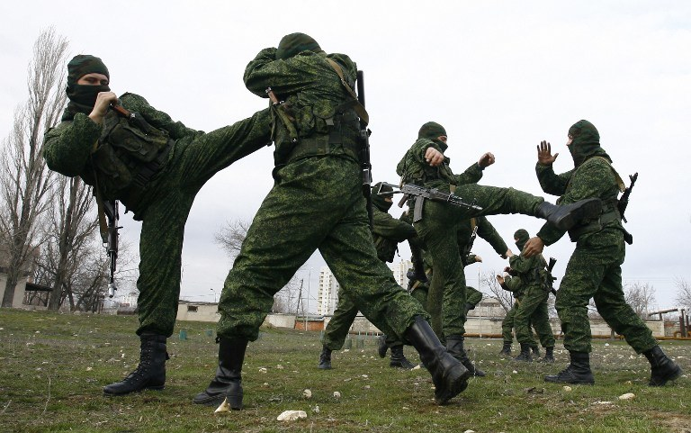 Ćwiczenia rosyjskich żołnierzy /AFP