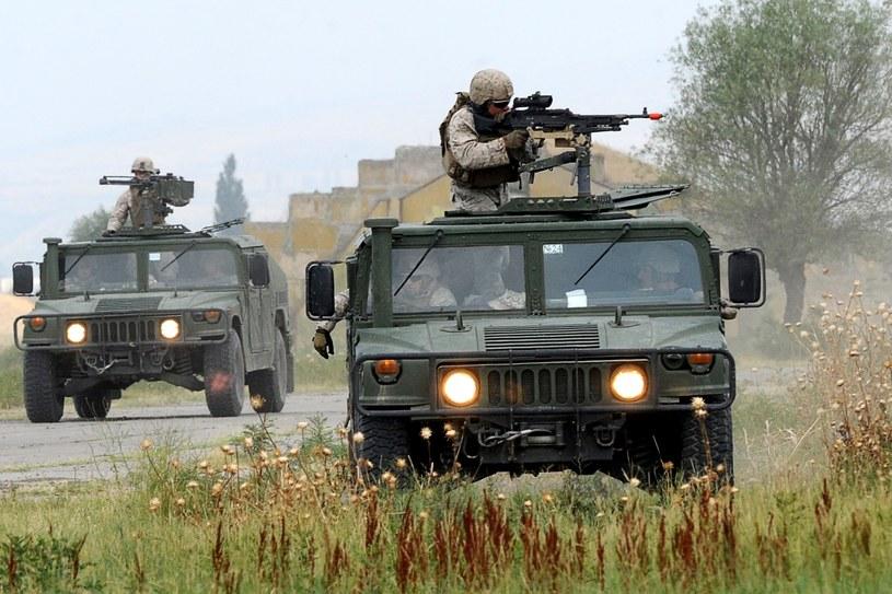Ćwiczenia żołnierzy NATO w Tblisi /AFP