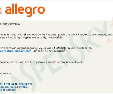 Cyberprzestępcy atakują użytkowników Allegro