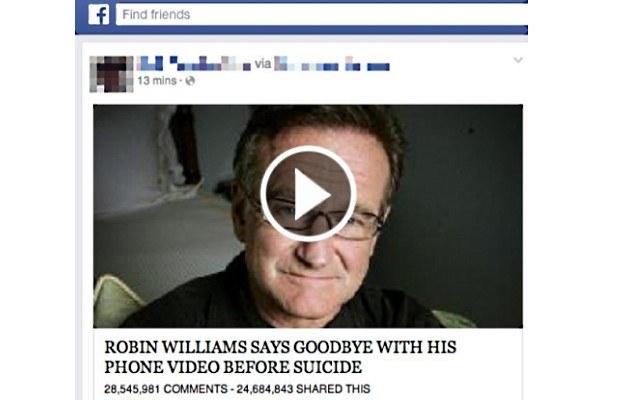 Cyberprzestępy żerują na samobójstwie Robina Williamsa /materiały prasowe